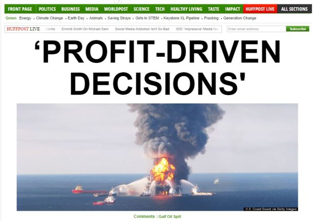 huff post green profit drfiven decisions gulf of mex