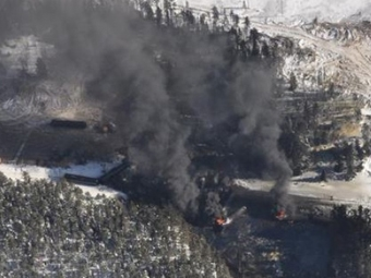 Feb. 14, 2015 CN oil train derailment near Gogama, Ontario CBC News/Dillon Daveikis