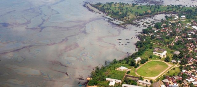 United Nations Environment Program photo of oil contamination in Nigeria.